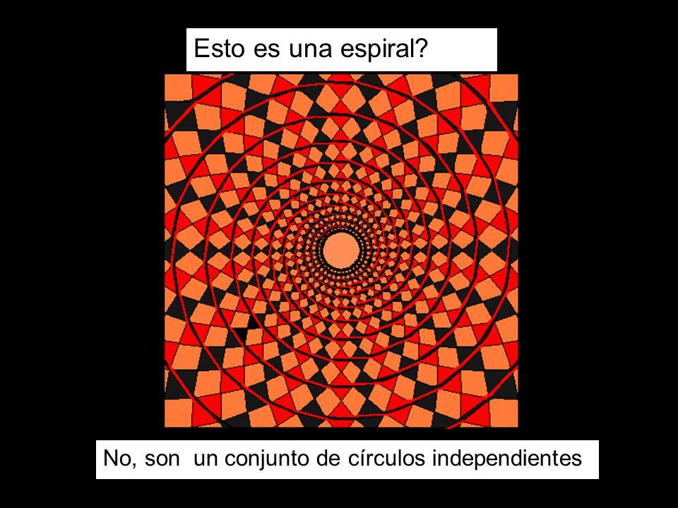 Esto es una espiral? No, son un conjunto de círculos independientes