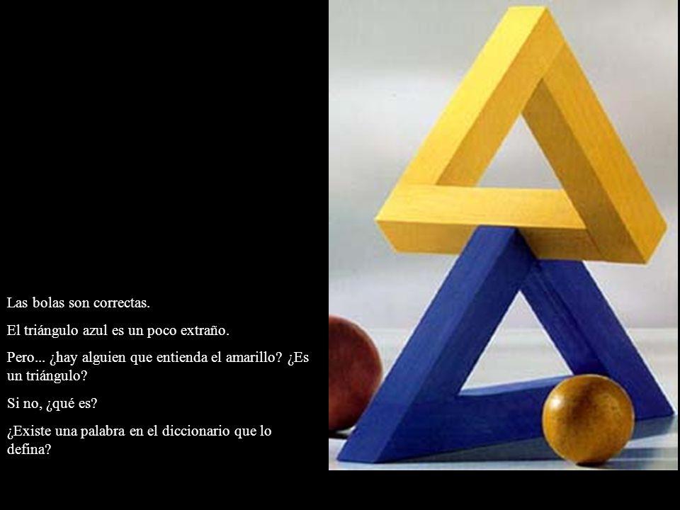 Las bolas son correctas. El triángulo azul es un poco extraño. Pero... ¿hay alguien que entienda el amarillo? ¿Es un triángulo? Si no, ¿qué es? ¿Exist