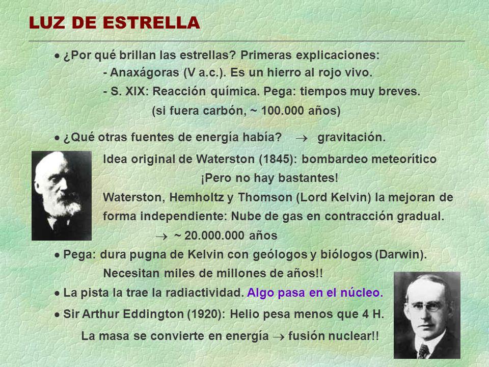 REACCIONES DE FUSIÓN Fusión: gran cantidad de energía a partir de muy poca masa.