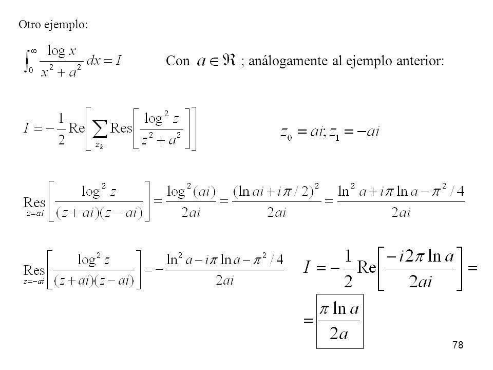78 Otro ejemplo: Con; análogamente al ejemplo anterior: