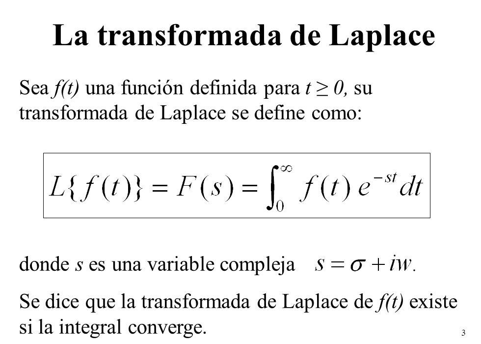 4 Observa que la transformada de Laplace es una integral impropia, uno de sus límites es infinito: Notación: