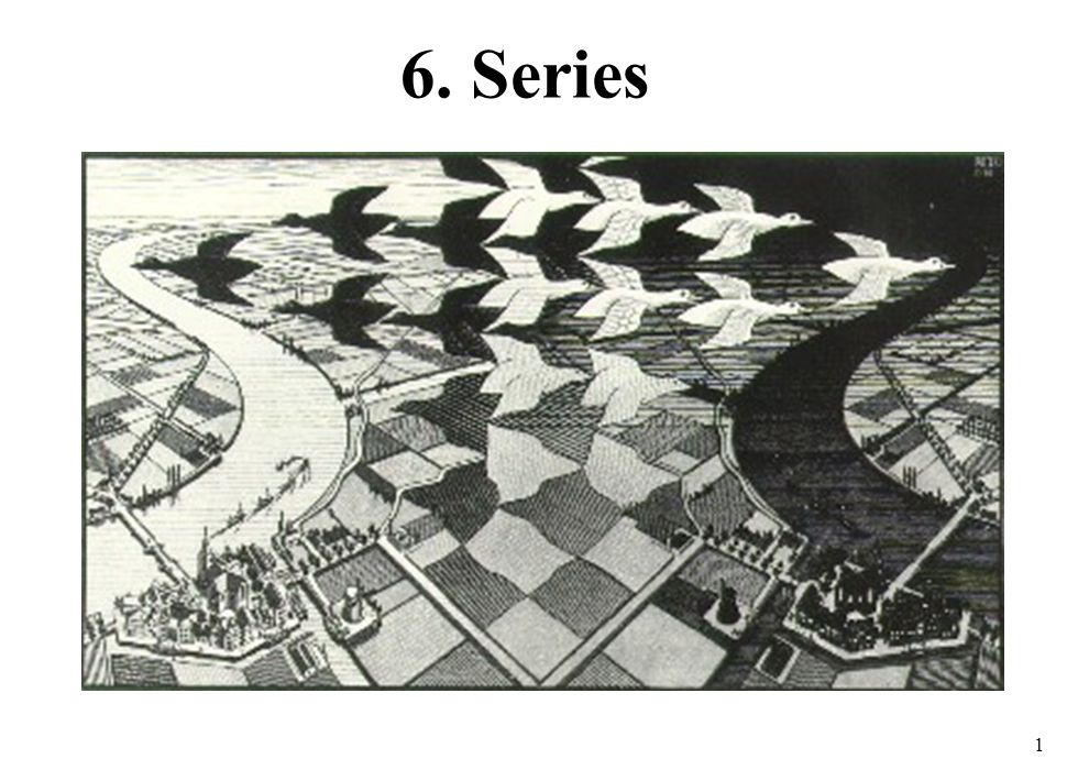 22 Dado ¿Es S convergente.Como el límite es mayor que 1, la serie diverge.