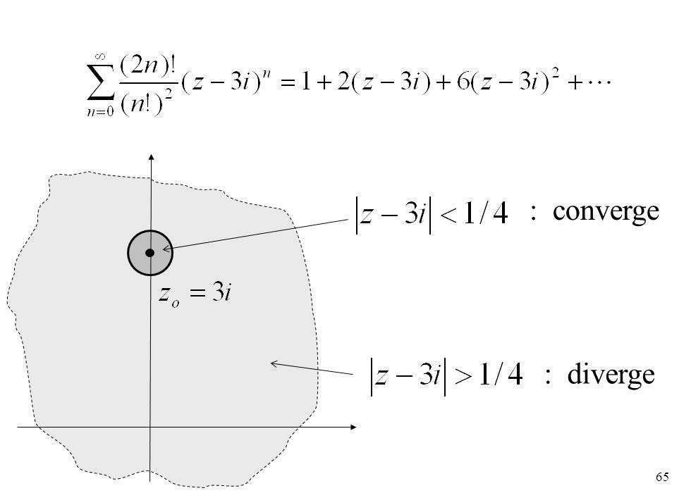 65 : converge : diverge