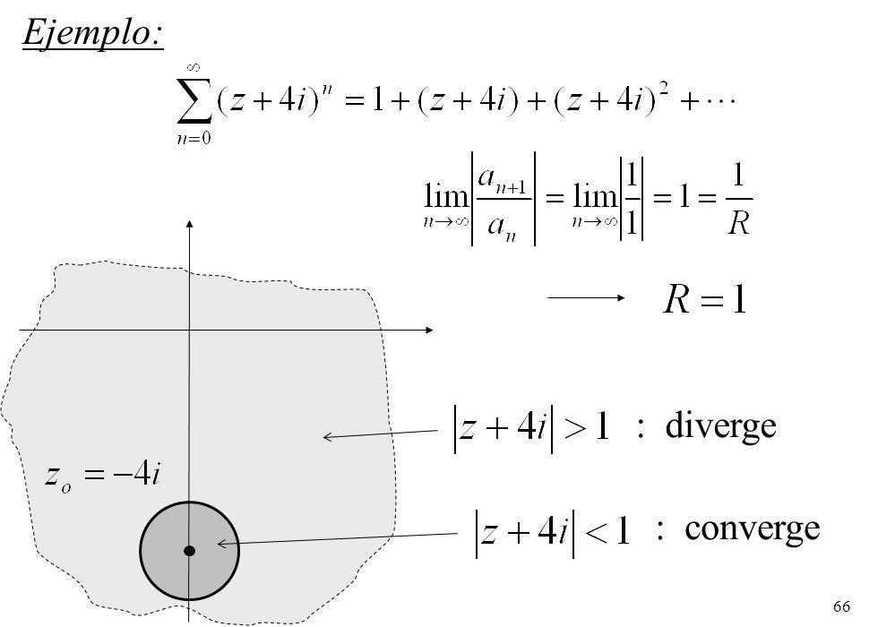 66 Ejemplo: : converge : diverge