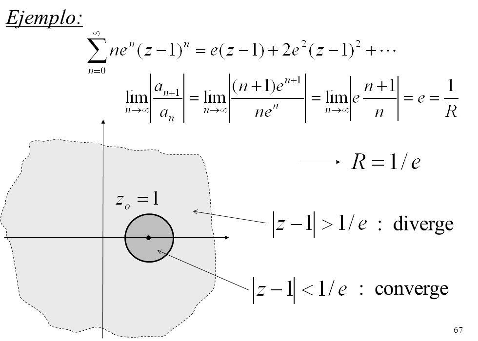 67 Ejemplo: : converge : diverge