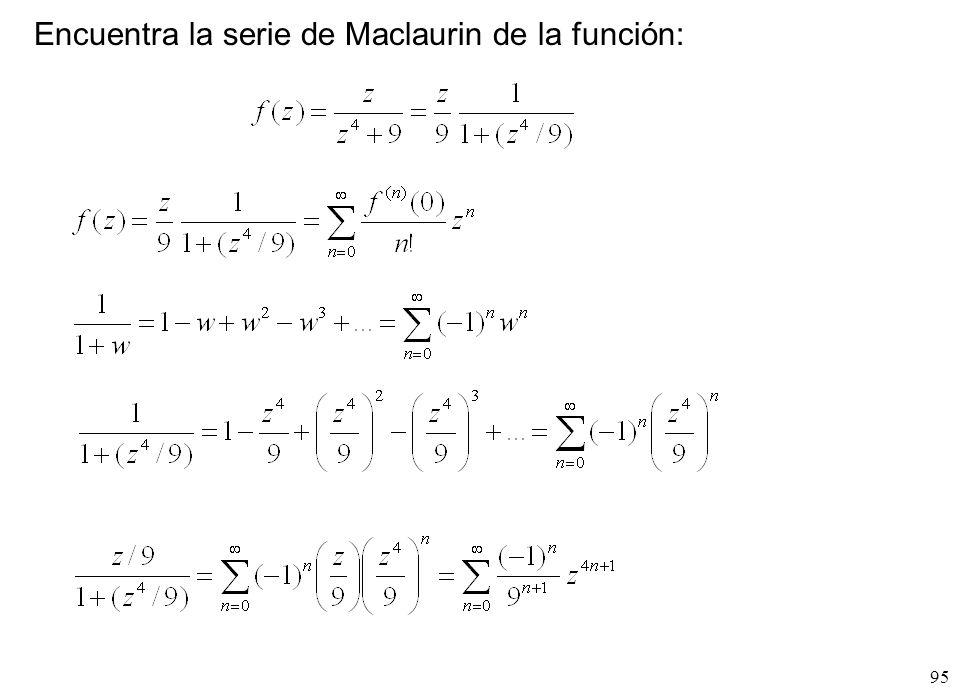 95 Encuentra la serie de Maclaurin de la función: