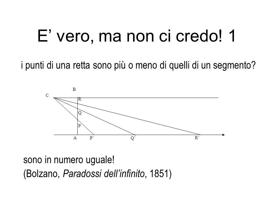paradosso della ruota (Galileo, Due nuove scienze, 1638, già presente in Aristotele) E vero, ma non ci credo.
