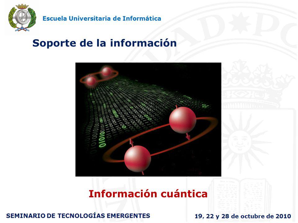 Soporte de la información Información cuántica