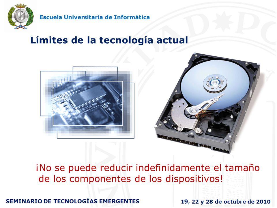 Límites de la tecnología actual ¡No se puede reducir indefinidamente el tamaño de los componentes de los dispositivos!