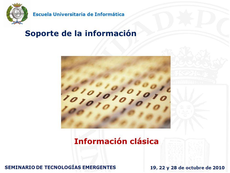 Soporte de la información Información clásica