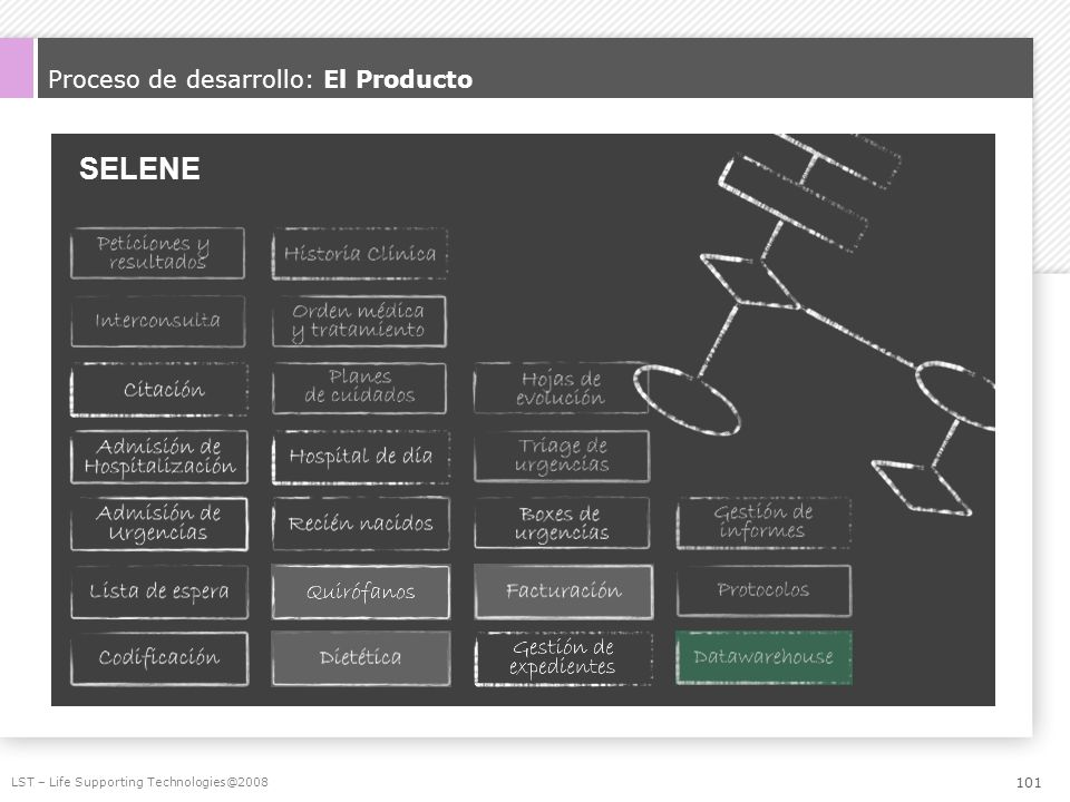 SELENE Proceso de desarrollo: El Producto LST – Life Supporting Technologies@2008 101