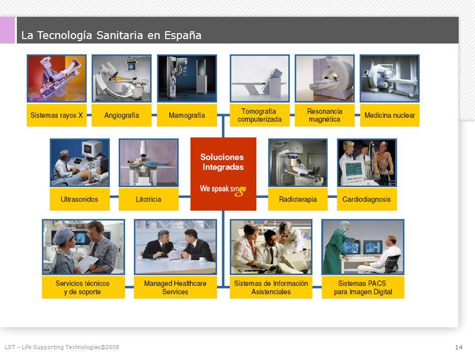 La Tecnología Sanitaria en España LST – Life Supporting Technologies@2008 14