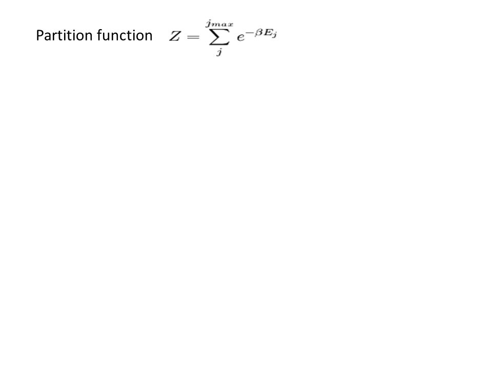 FROM THE PARTITION FUNCTION WE CAN CALCULATE ALL THERMODYNAMICAL QUANTITIES Partition function - Total energy - Free energy - Entropy Microscopic Macroscopic Hamiltonian H Partition function Z Free energy F Entropy S Pressure P Magnetization M … Quantifies interaction strength between elements F F