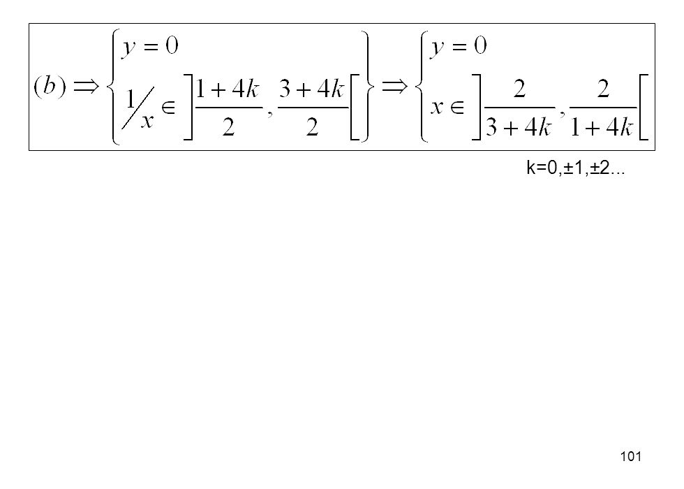 101 k=0,±1,±2...