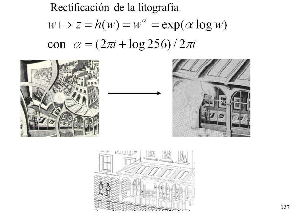 137 Rectificación de la litografía