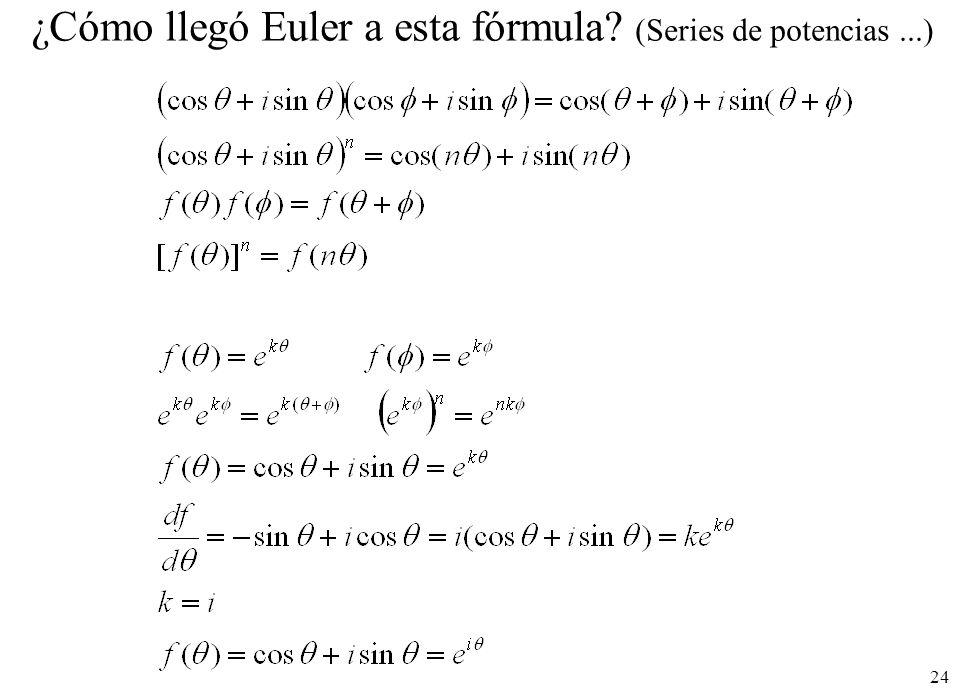 24 ¿Cómo llegó Euler a esta fórmula? (Series de potencias...)