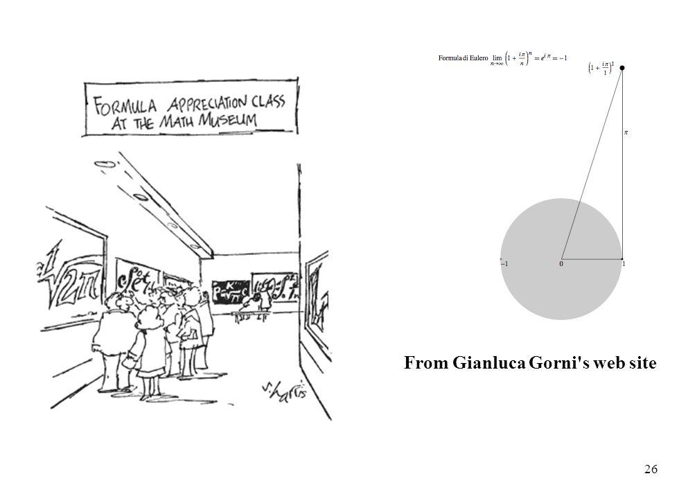 26 From Gianluca Gorni's web site