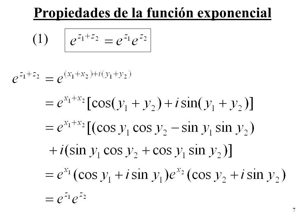 7 Propiedades de la función exponencial (1)
