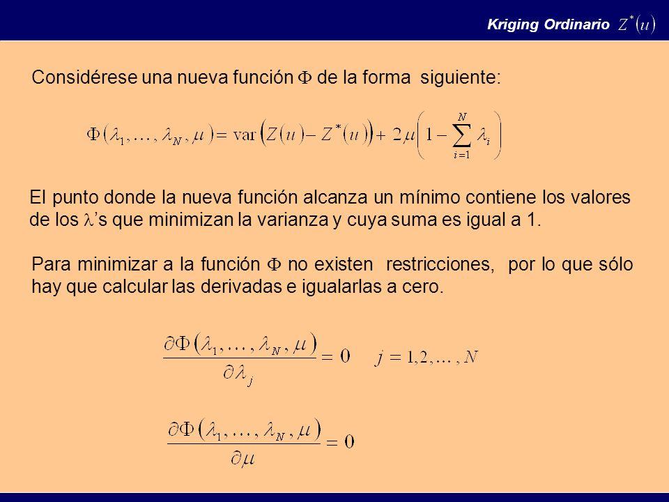 Considérese una nueva función de la forma siguiente: El punto donde la nueva función alcanza un mínimo contiene los valores de los s que minimizan la varianza y cuya suma es igual a 1.