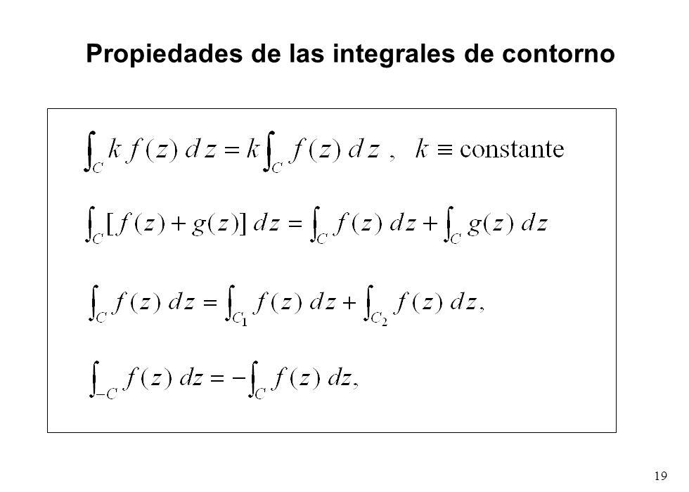 19 Propiedades de las integrales de contorno