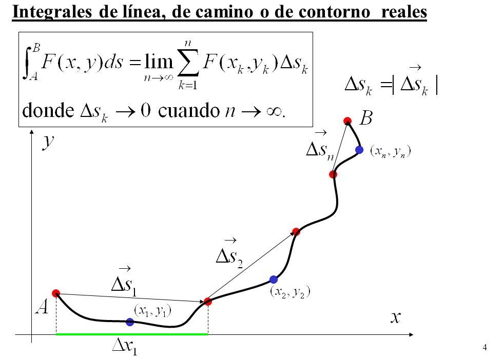 4 Integrales de línea, de camino o de contorno reales