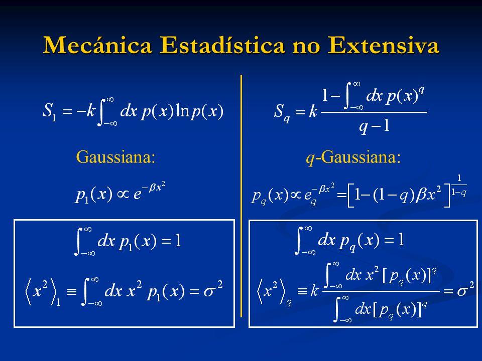 Mecánica Estadística no Extensiva Gaussiana:q-Gaussiana: