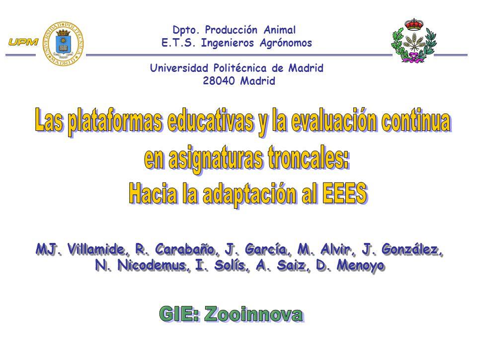 MJ. Villamide, R. Carabaño, J. García, M. Alvir, J.