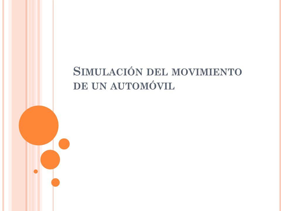 S IMULACIÓN DEL MOVIMIENTO DE UN AUTOMÓVIL