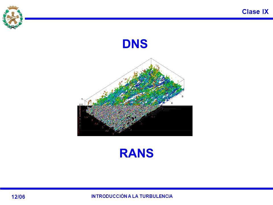 Clase IX 12/06 INTRODUCCIÓN A LA TURBULENCIA DNS RANS