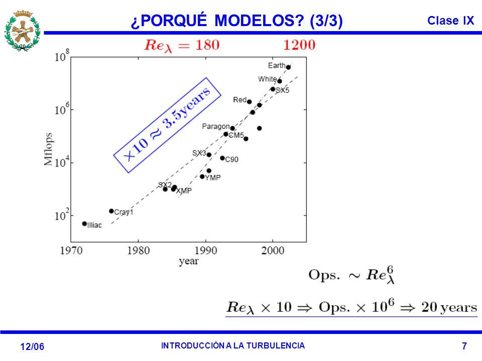 Clase IX 12/06 INTRODUCCIÓN A LA TURBULENCIA 7 ¿PORQUÉ MODELOS? (3/3)
