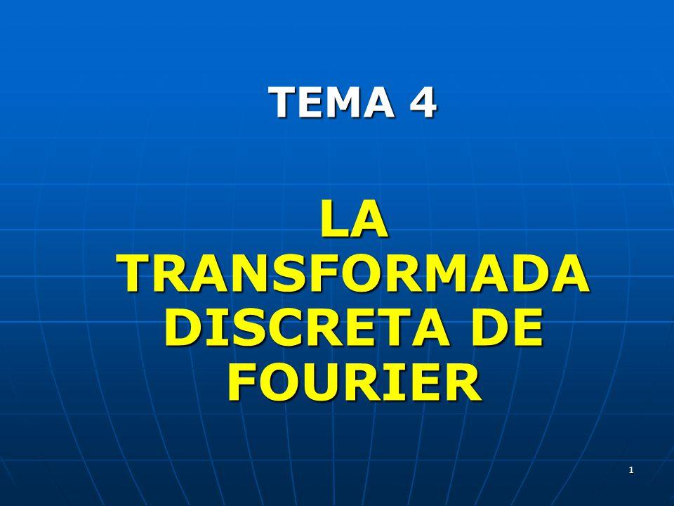 1 TEMA 4 LA TRANSFORMADA DISCRETA DE FOURIER