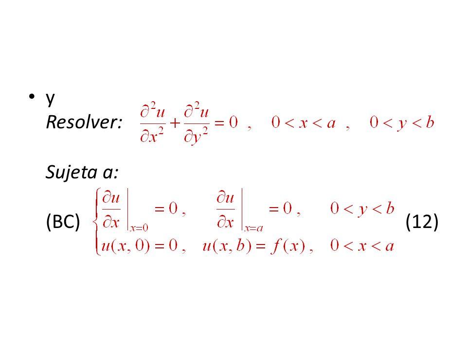 y Resolver: Sujeta a: (BC) (12)