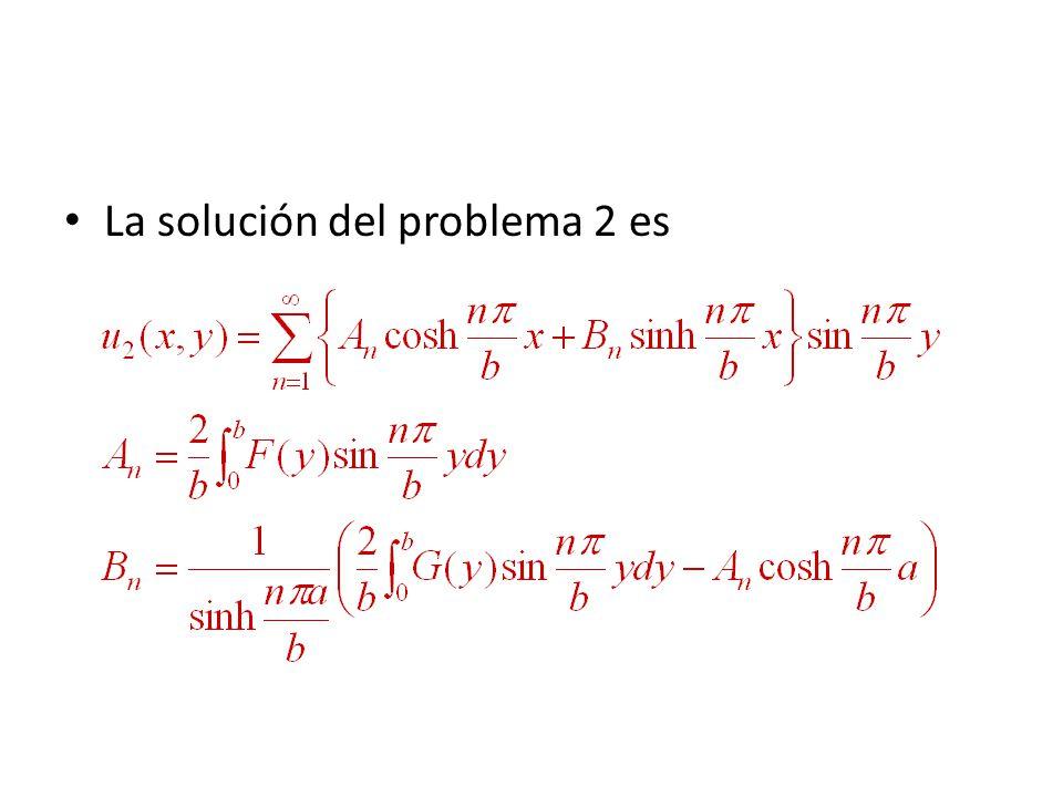 La solución del problema 2 es