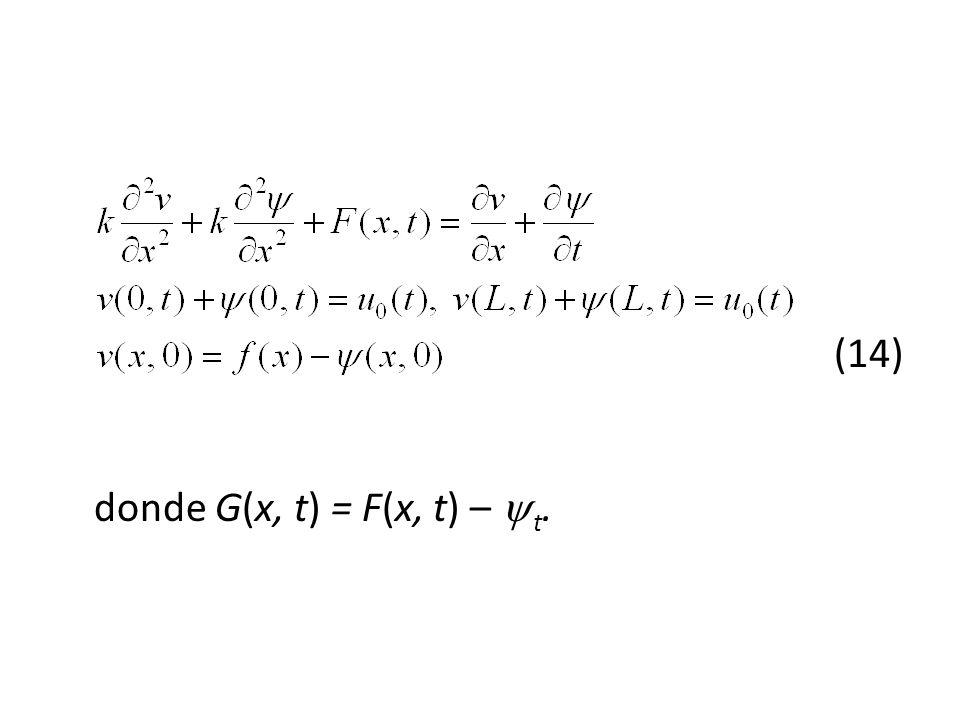 (14) donde G(x, t) = F(x, t) – t.