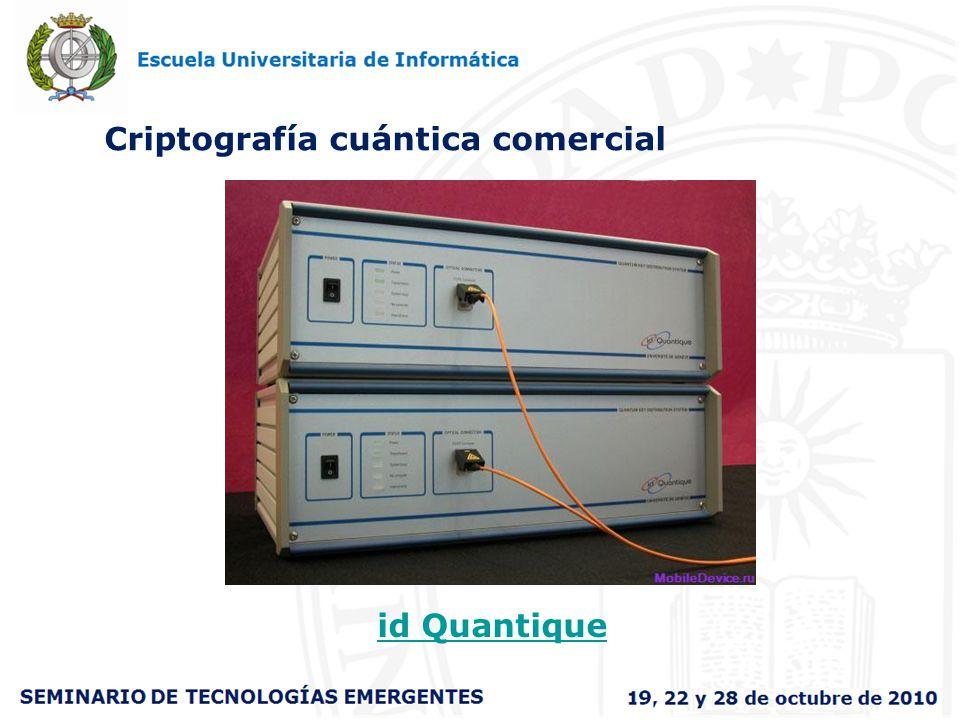 Criptografía cuántica comercial id Quantique