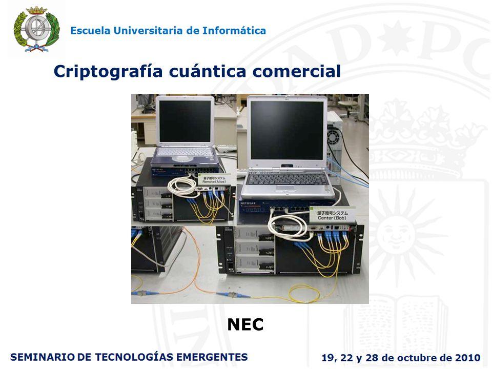 Criptografía cuántica comercial NEC