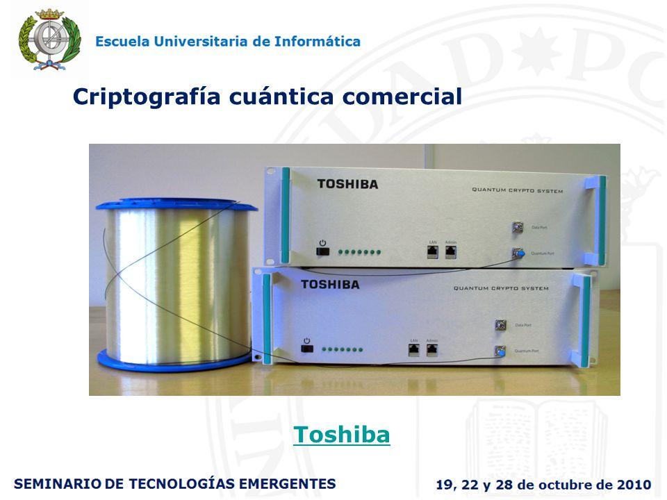 Criptografía cuántica comercial Toshiba