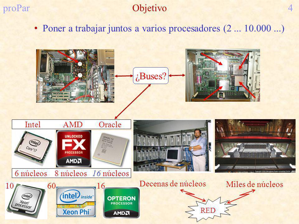 proParObjetivo4 Poner a trabajar juntos a varios procesadores (2...