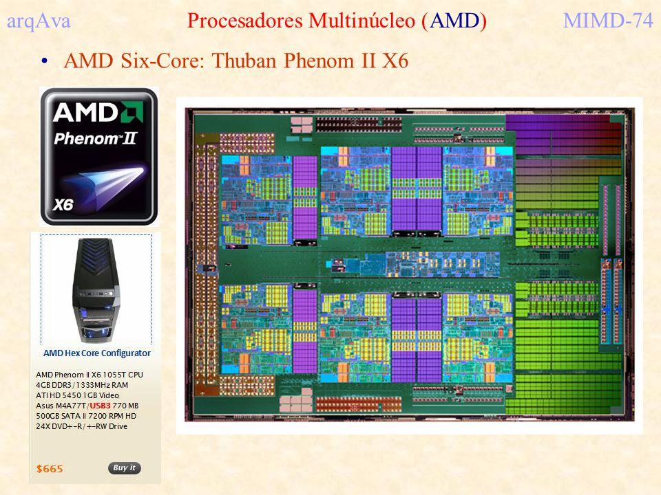 arqAva Procesadores Multinúcleo (AMD)MIMD-74 AMD Six-Core: Thuban Phenom II X6