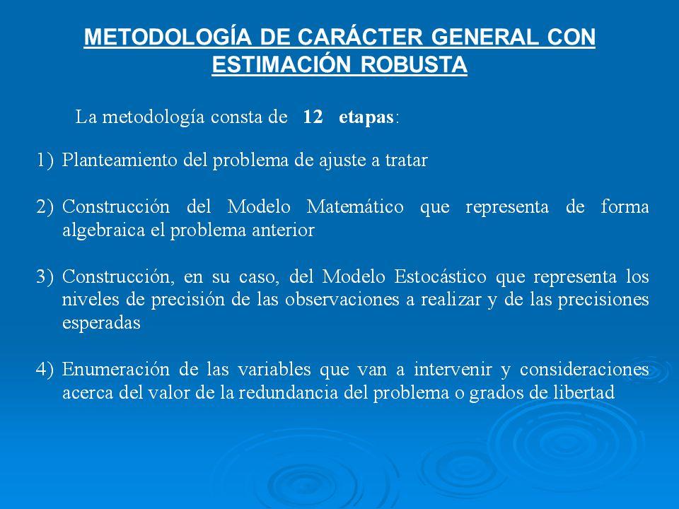 METODOLOGÍA DE CARÁCTER GENERAL CON ESTIMACIÓN ROBUSTA