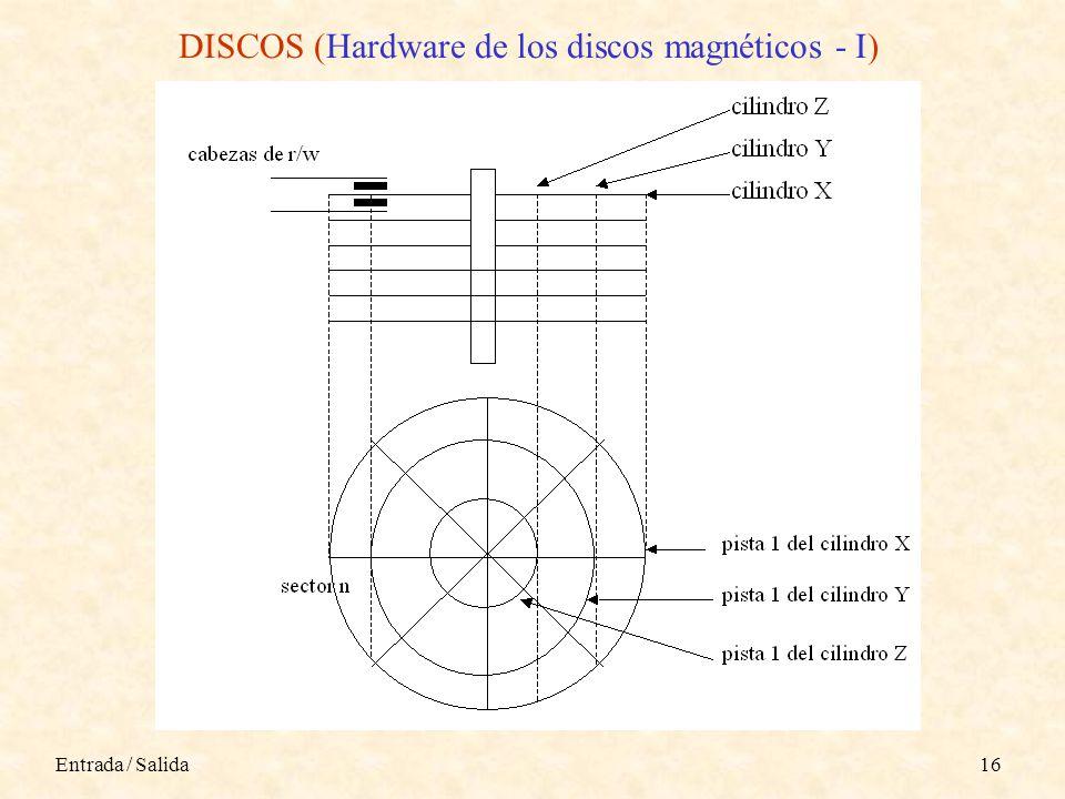 Entrada / Salida16 DISCOS (Hardware de los discos magnéticos - I)
