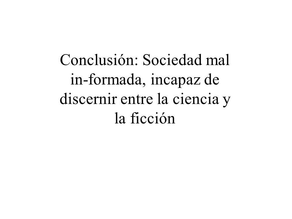 En España además... Llegamos tarde al Siglo de la Razón, a la Ilustración y a la Industrialización Detractores históricos de la Ciencia Graves deficie