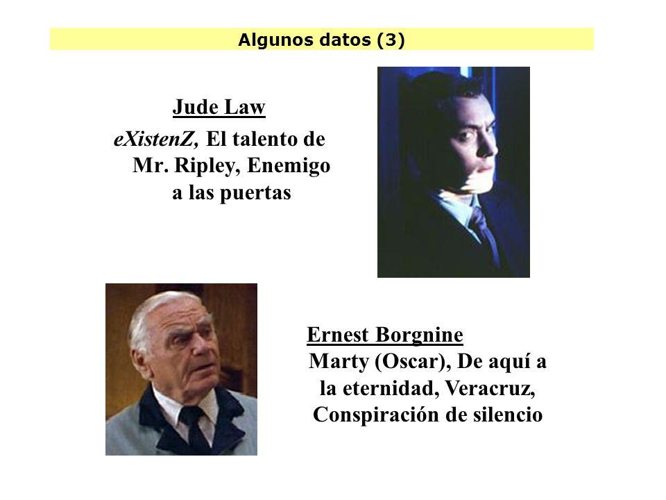 Algunos datos (3) Jude Law eXistenZ, El talento de Mr.
