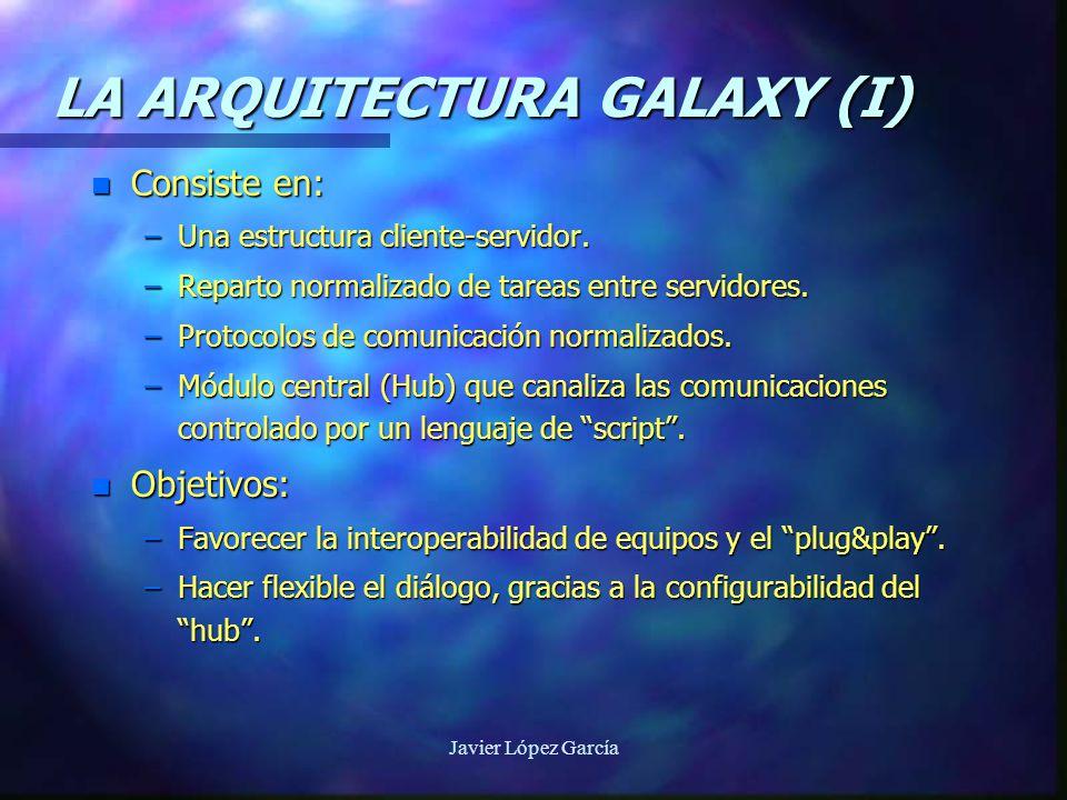 LA ARQUITECTURA GALAXY (I) n Consiste en: –Una estructura cliente-servidor.