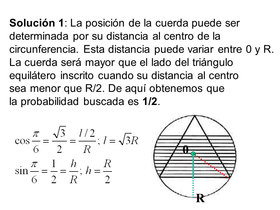 107 La paradoja de Bertrand Joseph L. F. Bertrand (1822-1900) fue un matemático francés cuyas principales áreas de trabajo fueron la Teoría de Números