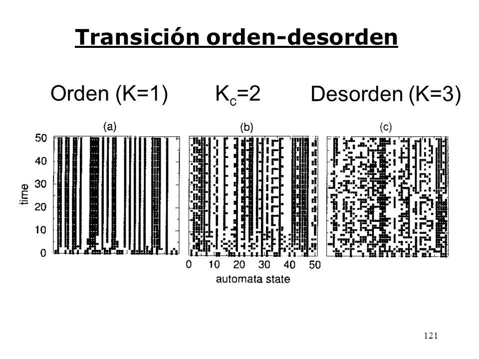 120 Cuenca anterior Las 2 13 = 8192 configuraciones globales en 15 cuencas de atracción disjuntas del ejemplo de RBN anterior.