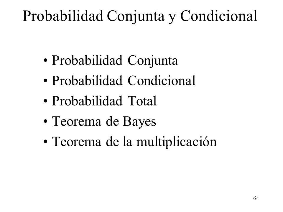 63 El suceso A c (ninguna cara) tiene solo una posibilidad. Entonces P(A c ) = 1/32 y la respuesta es: P(A) = 1 - P( ) = 31/32. Lanzamiento de monedas