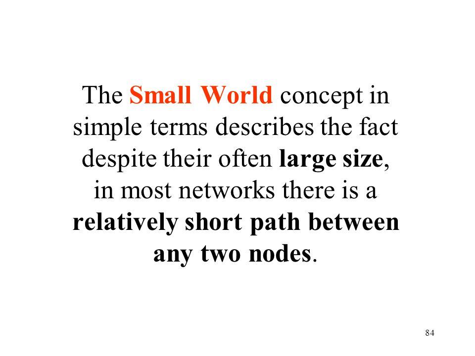 83 ¡ El mundo es un pañuelo ! Cest petit le monde !! What a Small-World ! Six degrees of separation