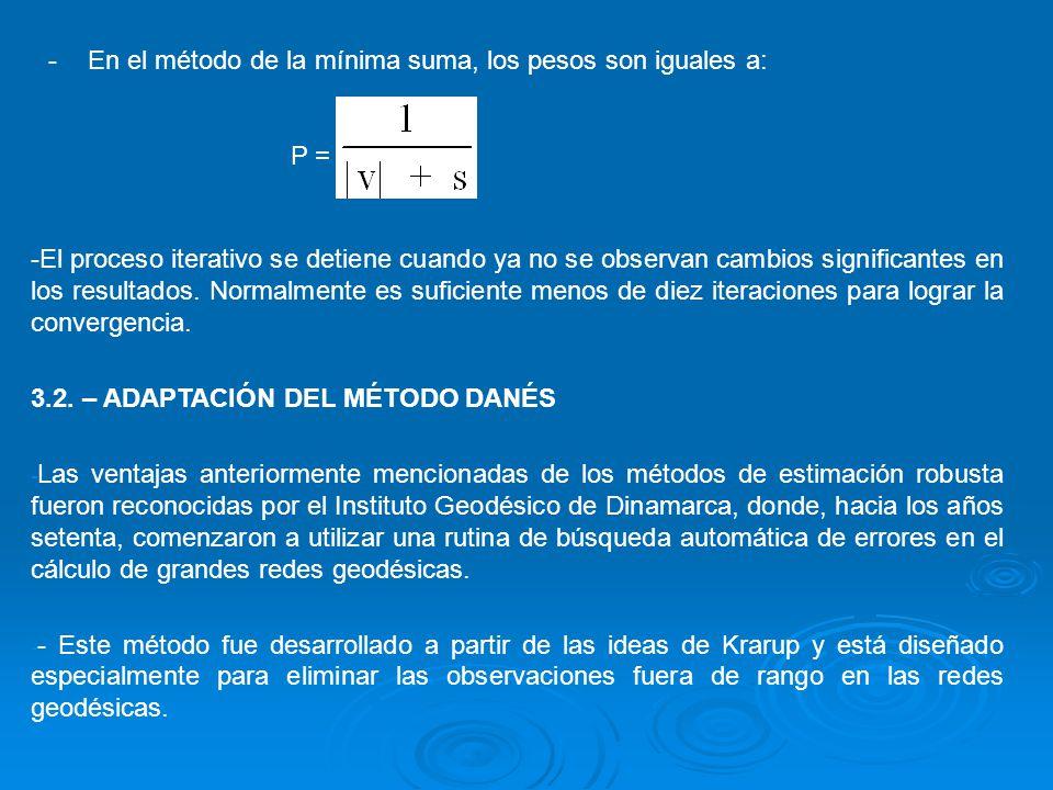 La estimación según el método Danés, está basada en el siguiente algoritmo iterativo: p +1 = p f(v ) f(v) = : 0,1,2...