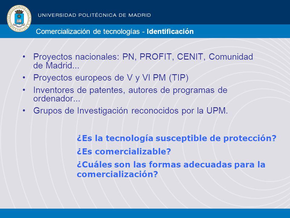 Comercialización de tecnologías - Identificación ¿Es la tecnología susceptible de protección.
